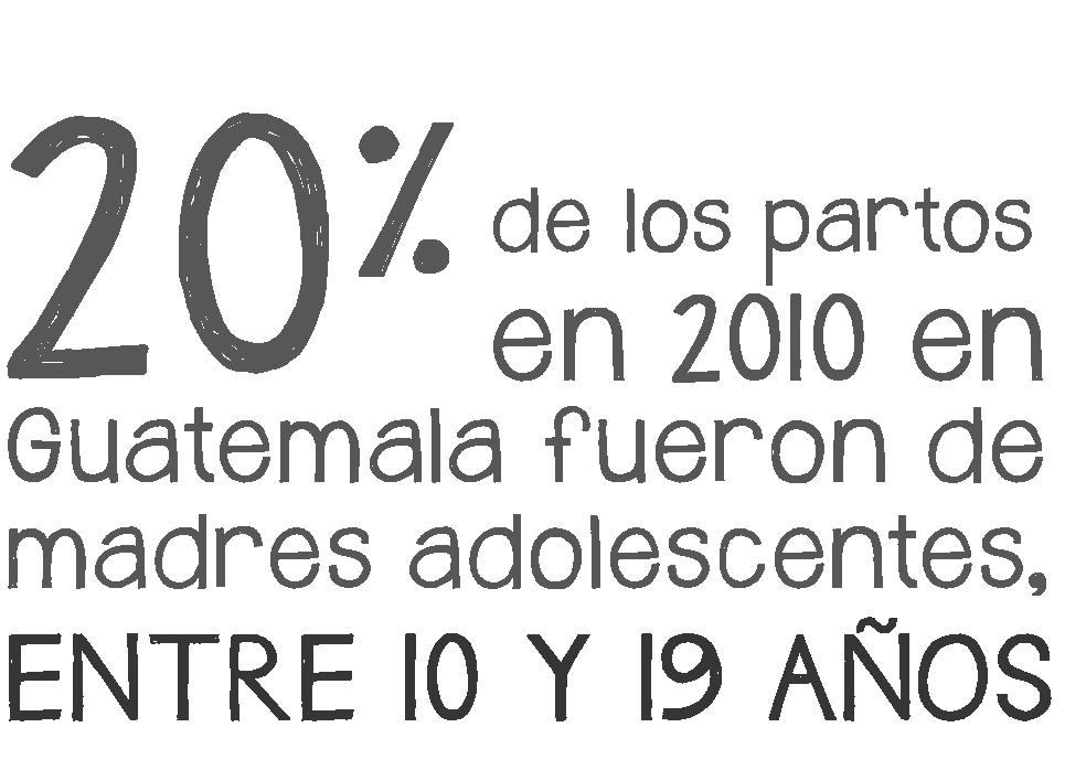 El 20% de los partos en 2010 en Guatemala fueron de madres adolescentes entre 10 y 19 años