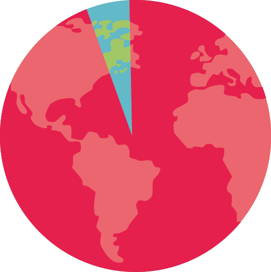 Mapa de porcentaje de pobreza mundial