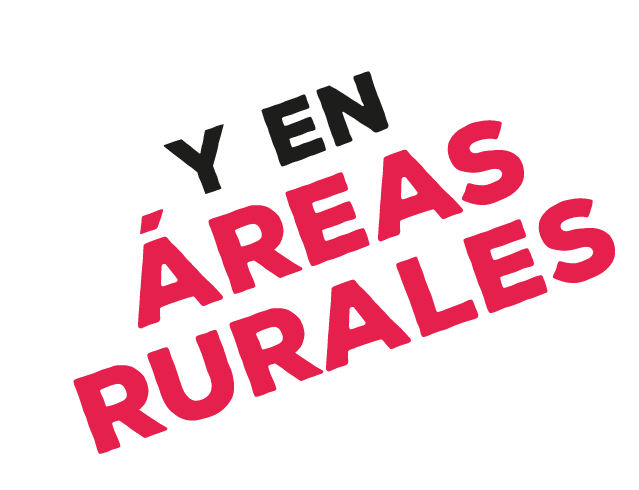 Y en áreas rurales