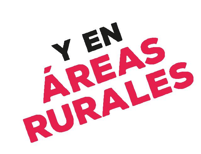 Y en áreas rurales